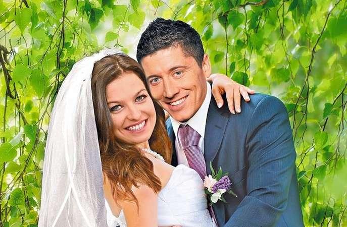 Роберт Левандовски и его жена