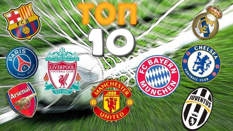 Самые богатые футбольные клубы мира, рейтинг 2017
