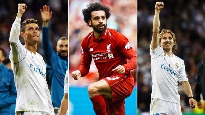 Модрич, Роналду и Салах номинированы на звание игрока года УЕФА