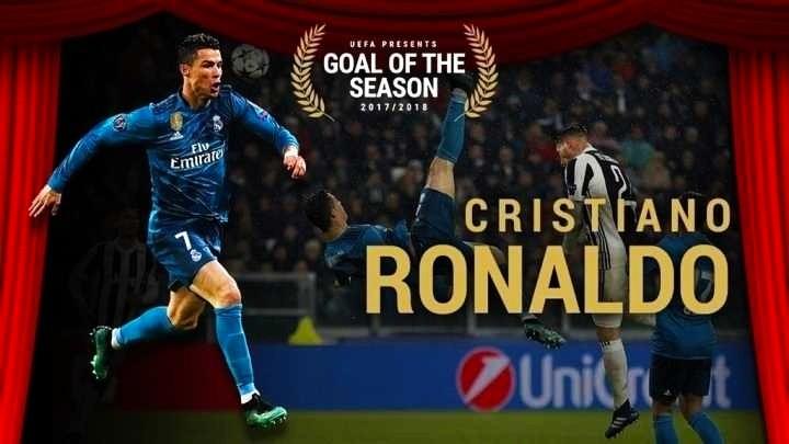 Гол Роналду в ворота Ювентуса признан УЕФА лучшим голом сезона