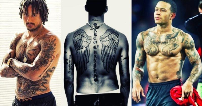 Самые татуированные футболисты мира.